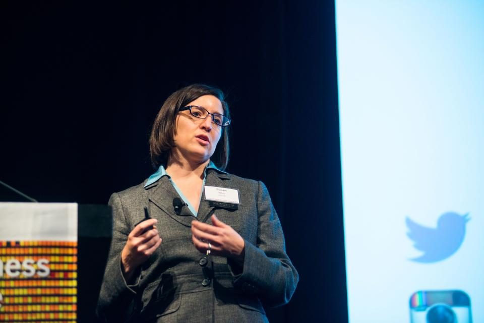 Susan Athey speaks at a recent conference